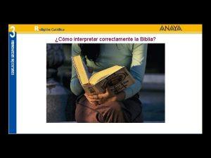 Cmo interpretar correctamente la Biblia Todo lo que