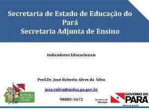 Secretaria de Estado de Educao do Par Secretaria
