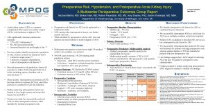 Preoperative Risk Hypotension and Postoperative Acute Kidney Injury