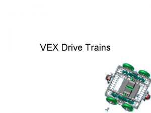 VEX Drive Trains Drive Trains Vocabulary Skid Steering