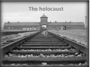 The holocaust The holocaust indicates that horrible time