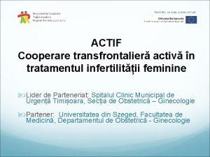 ACTIF Cooperare transfrontalier activ n tratamentul infertilitii feminine