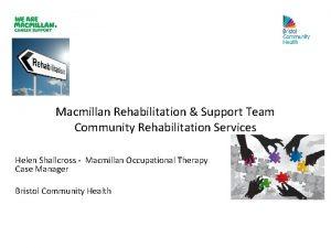 Macmillan Rehabilitation Support Team Community Rehabilitation Services Helen