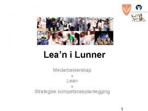 Lean i Lunner Medarbeiderskap Lean Strategisk kompetanseplanlegging 1
