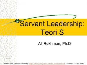 Servant Leadership Teori S Ali Rokhman Ph D