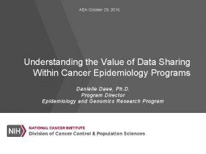 AEA October 29 2016 Understanding the Value of