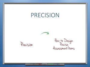 PRECISION KEY CONCEPTS INTRODUCTION PURPOSE Describe what PRECISION