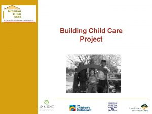 Building Child Care Project Financing Child Care Facilities