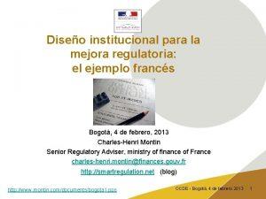 Diseo institucional para la mejora regulatoria el ejemplo