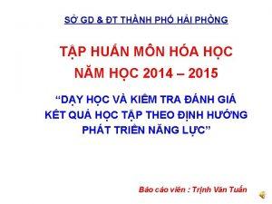 S GD T THNH PH HI PHNG TP