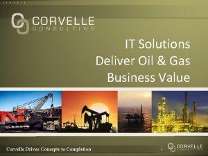 IT Solutions Deliver Oil Gas Business Value Corvelle