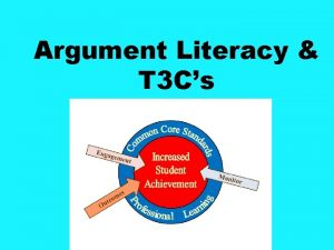 Argument Literacy T 3 Cs Argument Writing from