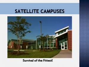 SATELLITE CAMPUSES Survival of the Fittest CONTACT INFORMATION