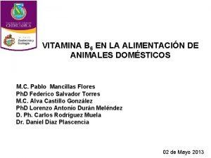 VITAMINA B 6 EN LA ALIMENTACIN DE ANIMALES