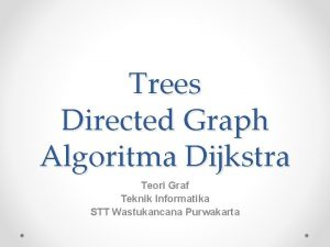 Trees Directed Graph Algoritma Dijkstra Teori Graf Teknik