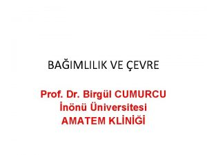 BAIMLILIK VE EVRE Prof Dr Birgl CUMURCU nn