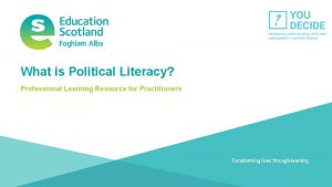 What is Political Literacy Professional Learning Resource for