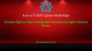 Konya l Milli Eitim Mdrl Snavla renci Alan