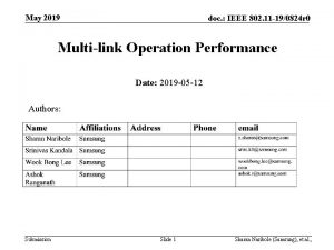 May 2019 doc IEEE 802 11 190824 r