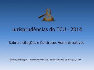 Jurisprudncias do TCU 2014 Sobre Licitaes e Contratos