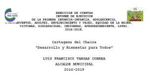 RENDICION DE CUENTAS INFORME DE EJECUCIN DE LA