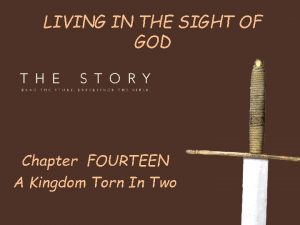 LIVING IN THE SIGHT OF GOD Chapter FOURTEEN