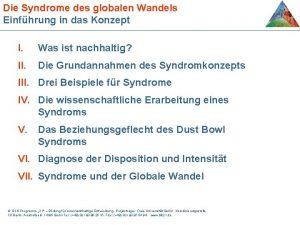 Die Syndrome des globalen Wandels Einfhrung in das