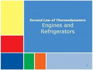 Second Law of Thermodynamics Engines and Refrigerators 1