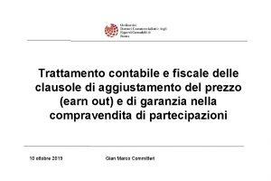 Trattamento contabile e fiscale delle clausole di aggiustamento