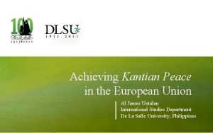 Achieving Kantian Peace in the European Union Al