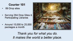 Courier 101 89 Drop sites Serving 284 Drop