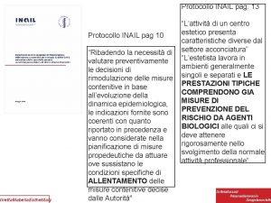 diretta Mabella Esthetitaly Protocollo INAIL pag 13 Lattivit