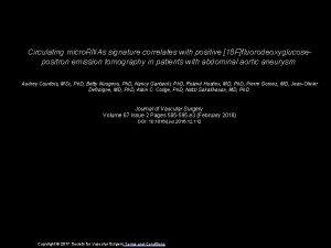 Circulating micro RNAs signature correlates with positive 18