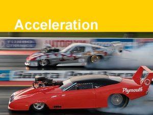 Acceleration Acceleration a n Nonuniform motion n n