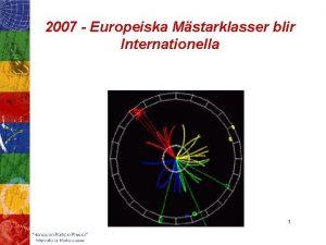 2007 Europeiska Mstarklasser blir Internationella 1 Hands on