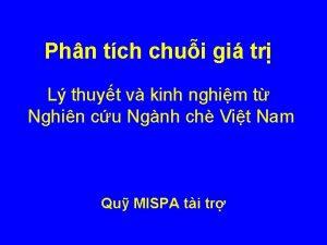 Phn tch chui gi tr L thuyt v