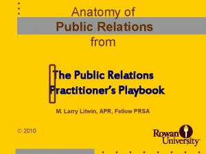 Anatomy of Public Relations from The Public Relations