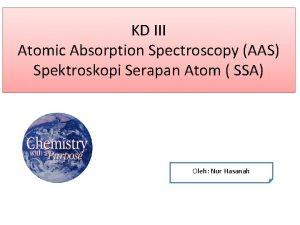 KD III Atomic Absorption Spectroscopy AAS Spektroskopi Serapan