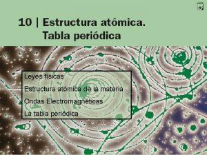 Leyes fsicas Estructura atmica de la materia Ondas