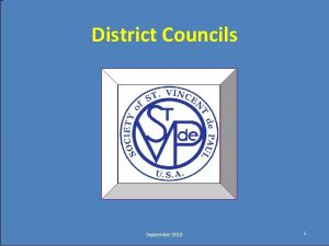 Click to edit Master title style District Councils