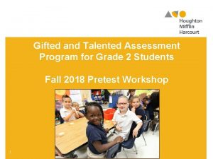 Gifted and Talented Assessment Program for Grade 2