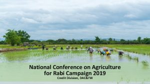 National Conference on Agriculture for Rabi Campaign 2019