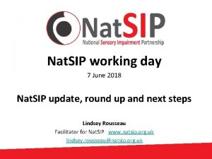 Nat SIP working day 7 June 2018 Nat