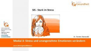SIS Stark im Stress Institut Lern Gesundheit Marcus