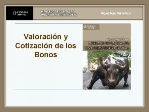 Valoracin y Cotizacin de los Bonos Elementos esenciales
