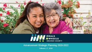 Advancement Strategic Planning 2020 2022 February 27 2020
