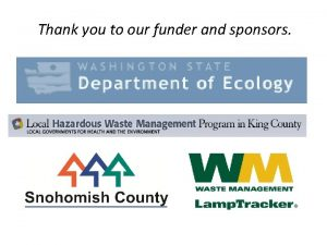 Thank you to our funder and sponsors PSI
