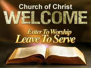 Church of Christ Is The Church of CHRIST