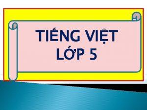 TING VIT LP 5 TRNG TIU HC NH