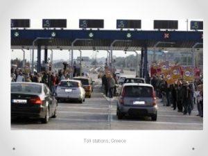Toll stations Greece Ontology epistemology Ontology a specification